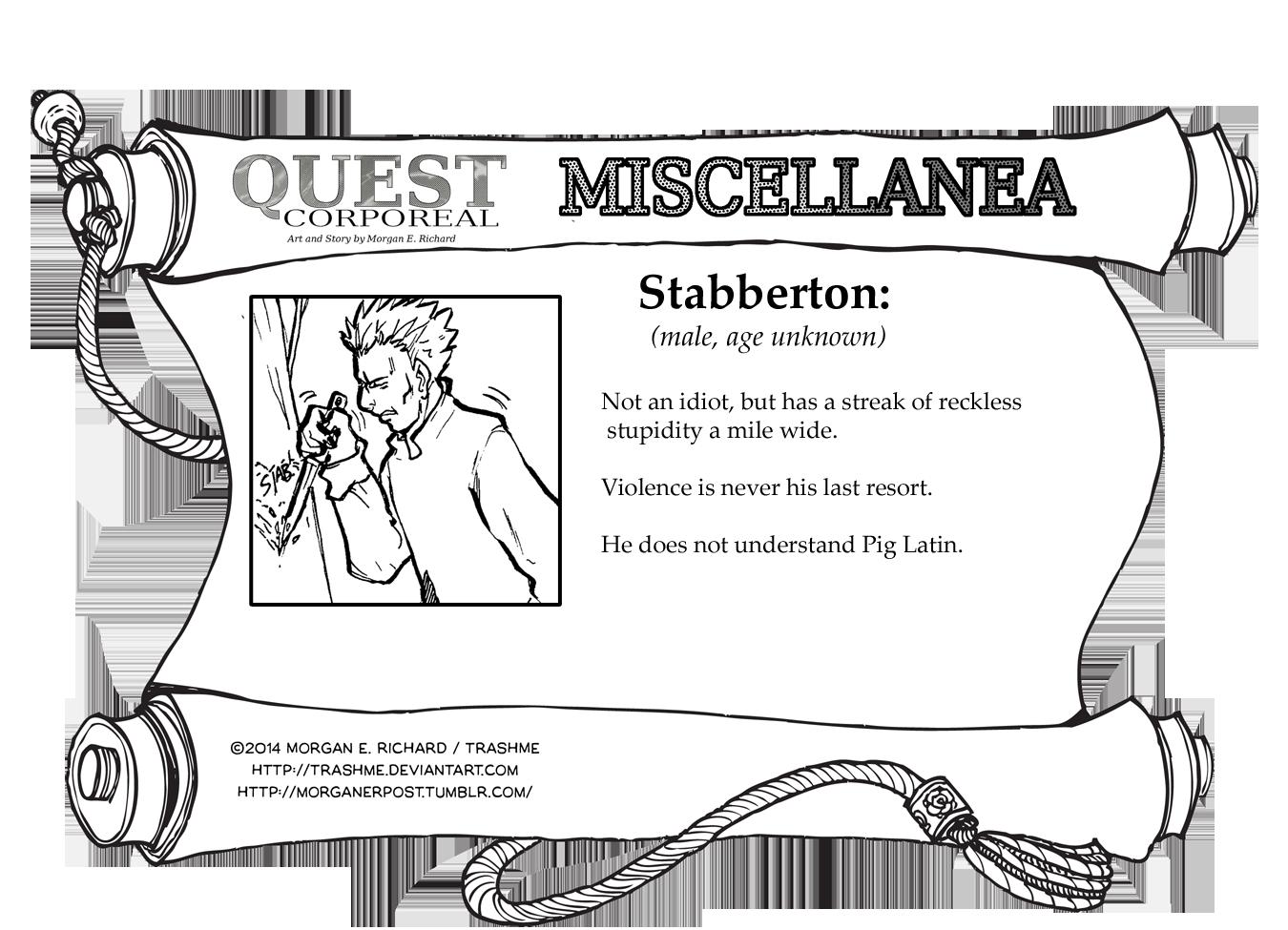 Miscellanea Corporeal: Stabberton