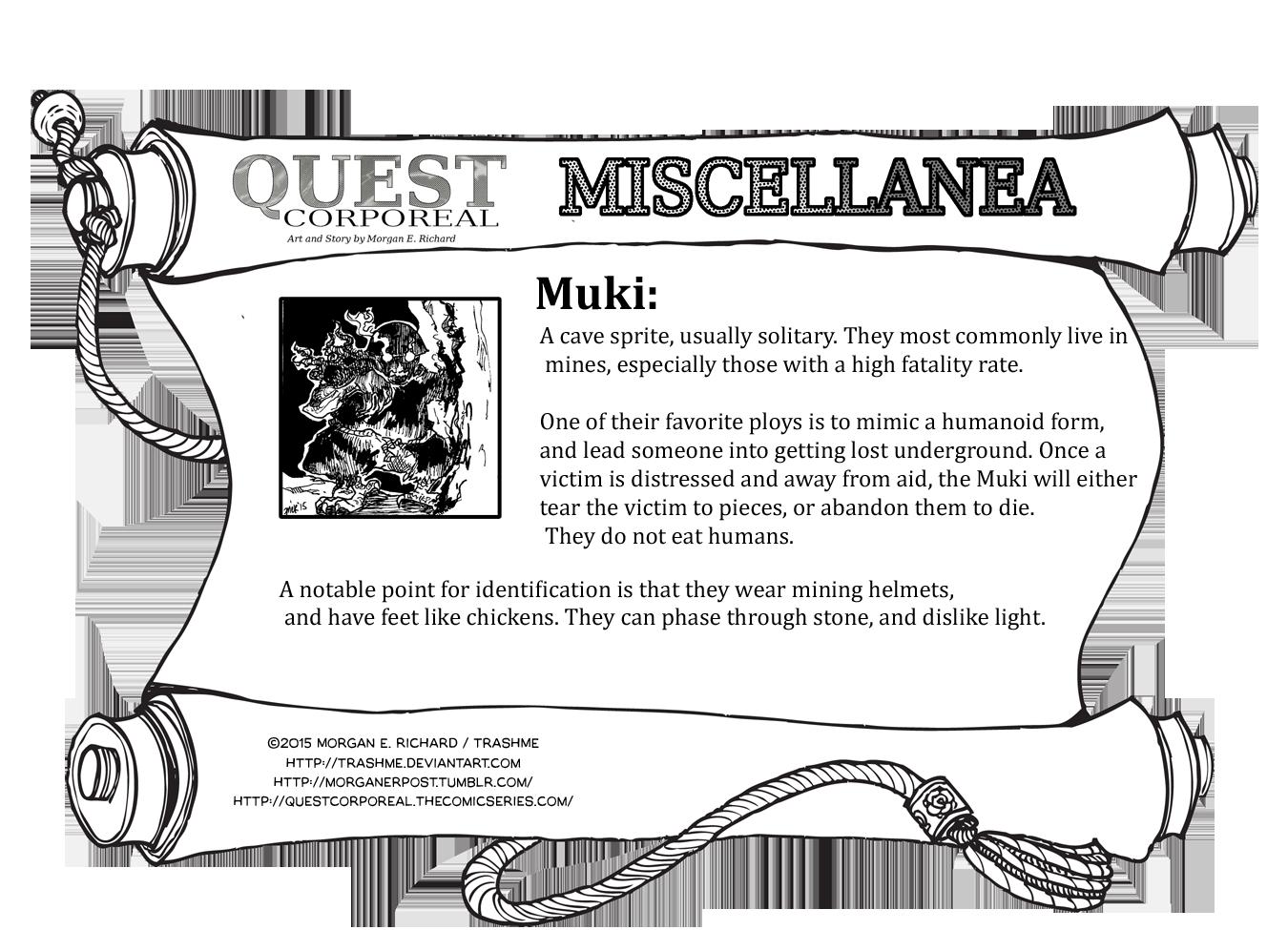 Miscellanea Corporeal: Muki